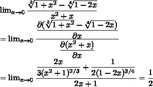 hola alguien sabe como se resuelve esto? limite cuando x tiende a 0 ...