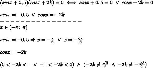 Wyznacz wartość parametru k, (k należy do liczb ...