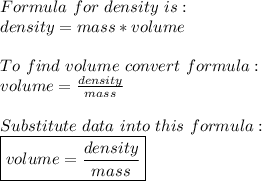 Formula\ for\ density\ is:\