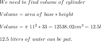 We\ need\ to\ find\ volume\ of\ cylinder\\