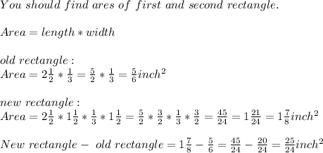 You\ should\ find\ ares\ of\ first\ and\ second\ rectangle.\\