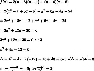 Wyznacz pierwiastki wielomianu : f(x) 4x^3+x^2 f(x) 9x^4 ...