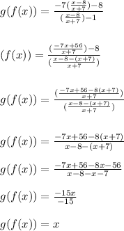 Confirm that f and g are inverses by showing that f(g(x ...