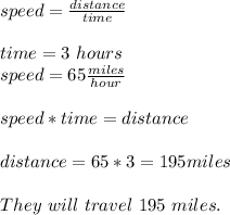 speed=\frac{distance}{time}\\