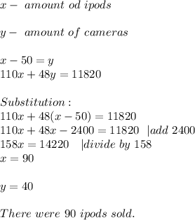 x-\ amount\ od\ ipods\\