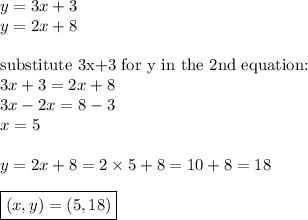 y=3x+3 \